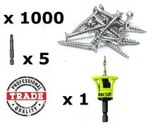 10gauge x 50mm Stainless Steel 304Grade Decking Screws 1000pc + Clever tool deck