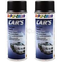 2x MOTIP DUPLI Rallye Lack Spray 400ml schwarz matt CARs 385872