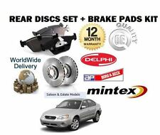 FOR SUBARU LEGACY 3.0i R B 3/2004-12/2009 REAR BRAKE DISCS SET + DISC PADS KIT