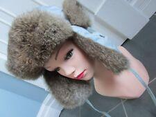 GKS'II Heatlocker Real RABBIT FUR & Nylon Russian Ushanka/Cossack Hat Size M