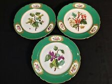 Rihouet a' Paris Porcelain Handpainted Cabinet Plates (3) c.1818-53