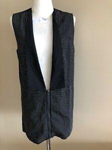 Alexander McQueen black vest with studs, size Aus  8-10, pre loved