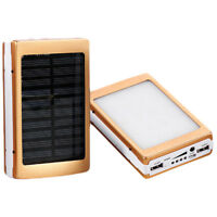 20000mAh Portable Dual USB Mobile Battery Charger Solar Power Bank Case DIY KitZ