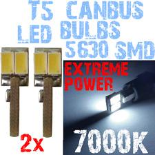 Paar LED T5 5630 White 7000K Lamp instrumentenpaneel Geen Fout 1,2W 12V 1A12.2 1