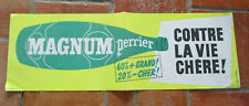 Affiche ancienne originale PERRIER Magnum 19 x 58 cm