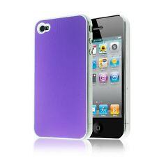 PLAIN SLIM METAL IMPACT PLASTIC HARD BACK CASE COVER FOR IPHONE 4S 4