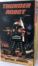 THUNDER ROBOT CLASSIC 60' RETRO TIN TOY ROBOT BATTERY  ROBOT HAHA TOY
