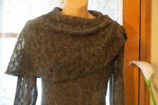 VINTAGE Style 50'S ~ NIK U FASHION ~  Knit/Cowl Neck  WIGGLE DRESS * Size 10 *