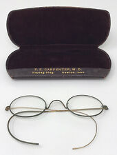 PAIR OF ANTIQUE WIRE FRAME GLASSES W/CASE – FOR DISPLAY