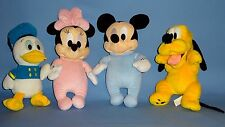 Disney Babies Plush Mickey Mouse-Minnie Mouse-Pluto-Donald Duck;BEST FRIENDS-LOT