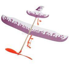 Foam Elastic Powered Glider Plane Thunderbird Kit Flying Model Aircraft Toy New