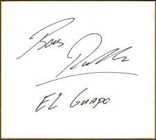 Bas Rutten Signed Shikishi Art Board BAS Beckett COA UFC HOF El Guapo Autograph