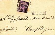 VALLE DELLA LUCANIA-50c FLOREALE-Busta x Campo di Giove 28.8.1909