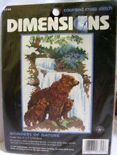"Dimensions Cross Stitch Kit ""Wonders of Nature"" Mama Bear & Cubs"