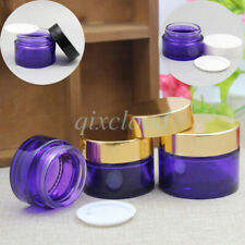 20g 30g 50g Empty PURPLE Glass Jars Cosmetic Cream Gel Containers Sample Pots