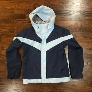 Burton Ski Snowboarding Jacket Coat Women's Size Small Navy / Light Blue