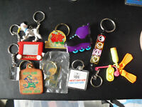 Lot of 10 Vintage Keychains Toys Advertising Notre Dame Others LOOK