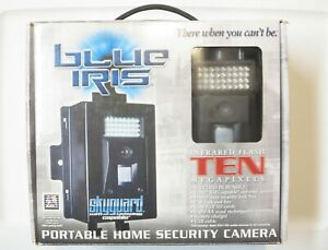 Blue Iris 10mp Home Security Camera / Game Cam w/Battery Charger, New Old Stock