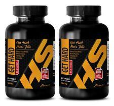 natural testosterone booster - GET HARD PILLS - male ed pills -  2 Bottles