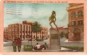 [2991] Trojan Statue - University of Southern California - 1957