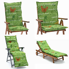 gartenm bel auflagen mit naturmuster gartenliege deckchair. Black Bedroom Furniture Sets. Home Design Ideas