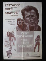 THE EIGER SANCTION 1975 Orig Australian one sheet movie poster Clint Eastwood