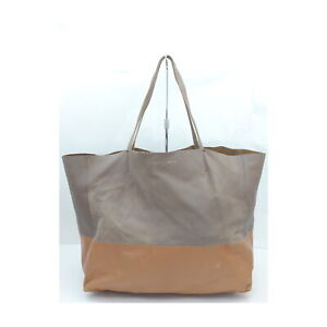CELINE Tote Bag Holizontal Cacas pretty Browns Leather 1134464