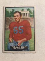 1951 Topps Magic #7 Tom Scott VG-EX Virginia Cavaliers Set Break