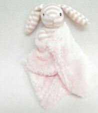 Kellytoy Baby Bunny Rabbit Blanket Rattle Stuffed Plush Pink Striped