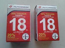 "Hutchinson Premium Universal Tubes 18"" x 1.70 -2.35 Bicycle Tube - TWO"
