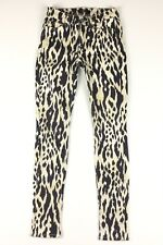 7 SEVEN For All Mankind Womens Jeans Animal Print Stretch Skinny Size 23