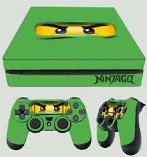 PS4 Slim Vert Ninja Yeux Toy Figurine Articulée Building Autocollant Peau + Pad