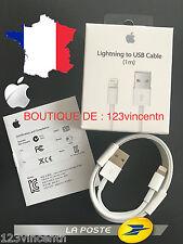 Chargeur Câble Secteur 100% ORIGINE APPLE Iphone 5, 5C, 5S, 6, 6 Plus, 6S