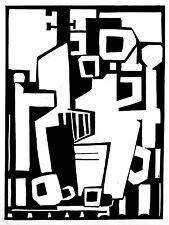 """""""STILL LIFE WITH A GUITAR""""  original linocut..handsigned edition 25.. mjonesart"""