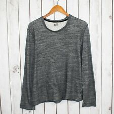NAKED & FAMOUSE Men's Crew Neck Pullover Sweater Heather Gray Size Small P