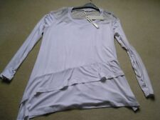BNWT Designer BaiShengGT XL white asymetric top lace long sleeves