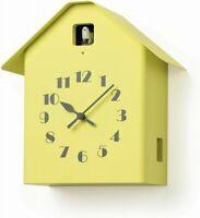 Lemnos Clock Dachs Cuckoo RF20-03YE Wall Clock Yellow RYOSUKE FUKUSADA Wood