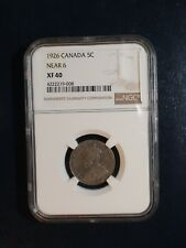 1926 Canada Nickel NGC XF40 NEAR 6 5C Coin PRICED TO SELL RIGHT NOW!