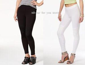 Hue Women's Leggings Lace Knee Leggings Black, White  XS, S, M , XL