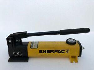 ENERPAC P142 HYDRAULIC HAND PUMP 2-SPEED 700 BAR/ 10,000 PSI