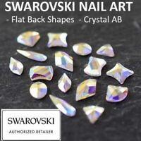 Genuine Swarovski® Flat Back Crystals Rhinestones Gems NAIL SHAPES Crystal AB