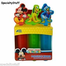 NEW MICKEY MOUSE CLUBHOUSE POPSICLE MAKER BPA FREE MOLD & STAND DONALD PLUTO OB