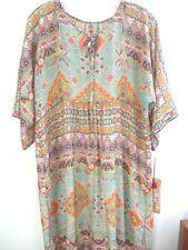Johnny Was Sage dress/slip silk Habutai 3/4 sleeve Tunic/dress oversized  S,M?