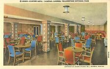c1940 Canyon Hotel Cocktail Lounge, Yellowstone National Park, Wyoming Postcard