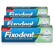 Fixodent Plus Denture Adhesive Creams Full or Partial Dentures - Pack of 3 & 6