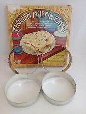 Vintage Fox Run Craftsmen 4 Piece English Muffin Rings.  Part #4685