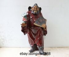 17 China WuCai Porcelain & Pottery Taoist master Ghost catcher Zhong Kui Statue