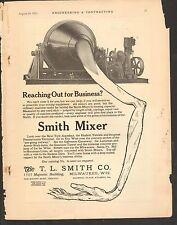 VINTAGE MAGAZINE AD #00289 - 1912 SMITH CEMENT MIXER - CATALOG 53 - MILWAUKEE