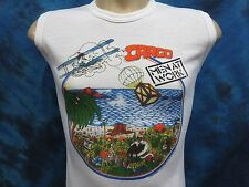 NOS vintage 1983 MEN AT WORK CARGO TOUR MUSCLE T-Shirt XS rock concert thin 80s