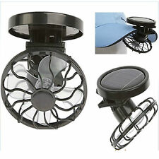 Environmental Solar Mini Fan Clip Hat Sun Energy Power Panel Cell Cooling Fans
